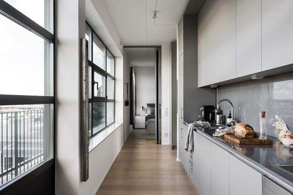 cucina-in-corridoio