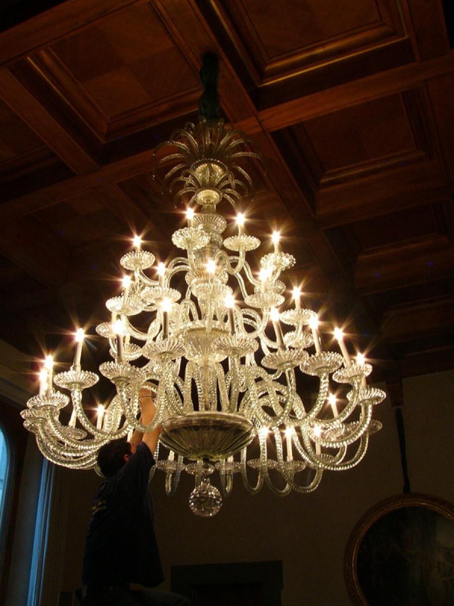 Restauro lampadari Murano antichi e storici