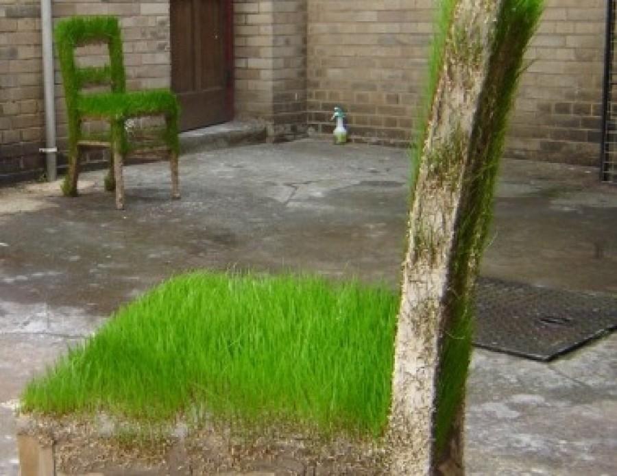 L'eco-design colpisce ancora con Green Art: l'erba che cresce sui mobili