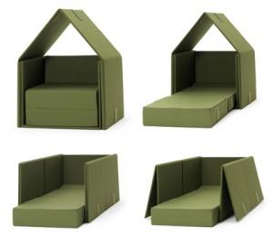 Tent Sofa, la poltrona letto scomponibile a forma di tenda