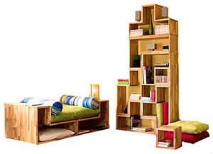 Librerie Tetris ed ecologiche da Bioecoshop