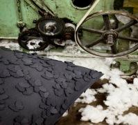 Una poltrona sacco in feltro di lana