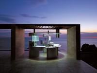 Acropolis, cucina ad isola futuristica