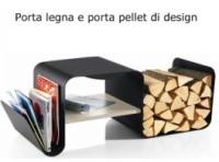 Porta legno e pellet firmato aros complementi d 39 arredo for Porta pellet da interno